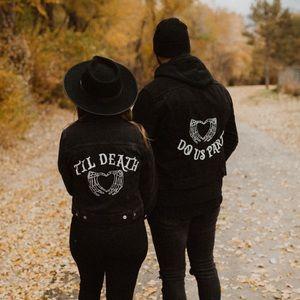 Til death do us part jean jackets